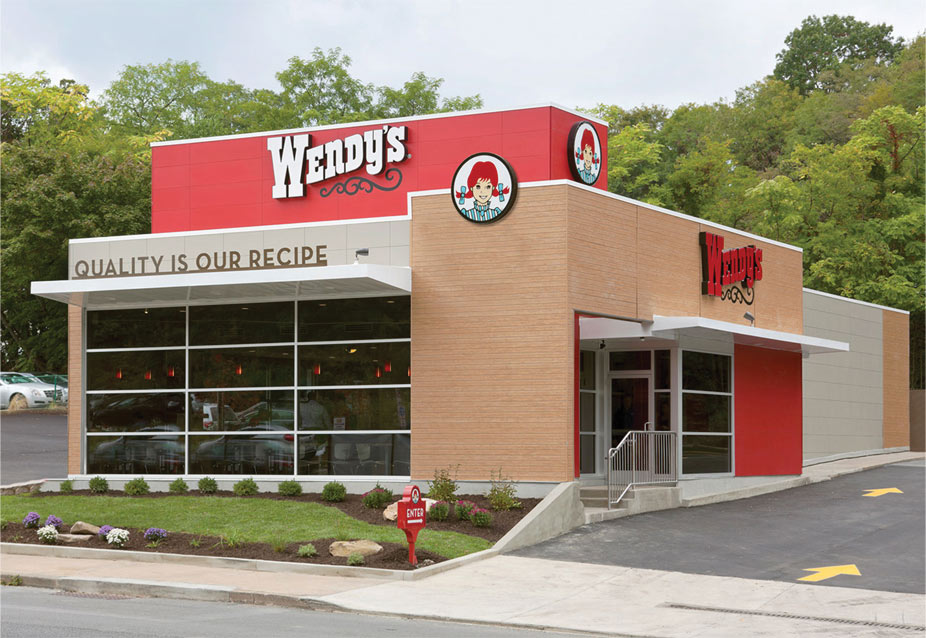 Wendy s debuts new menu of store designs total food for Exterior store design